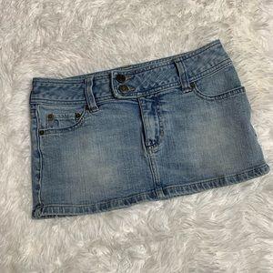 Hollister Denim Skirt Size 0